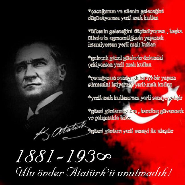Atatürk e Saygı ile
